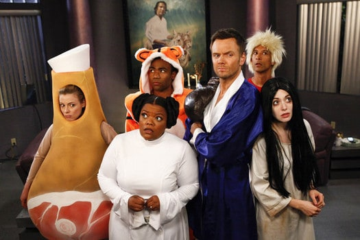 COMMUNITY -- Episode 403 -- Pictured (l-r) Gillian Jacobs as Britta Yvette Nicole Brown as Shirley Donald Glover as Troy Joel McHale as Jeff Winger ...  sc 1 st  joynulislam552 & Communityu0027 4.2 Paranormal Parentage Preview Clip and Photos ...