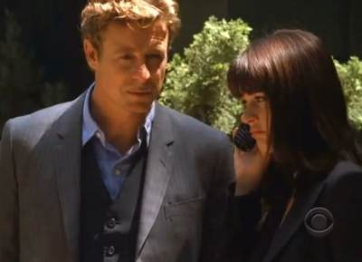 Mentalist Patrick Jane Simon Baker Teresa Lisbon Robin Tunney The Mentalist Red Menace screencaps images photos pictures