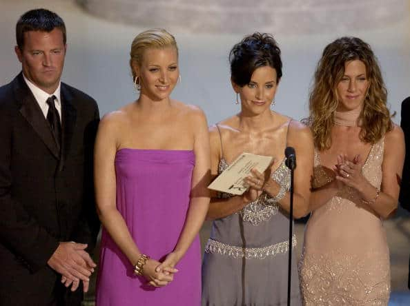 Friends cast at 54th Annual Primetime Emmy Awards Inside