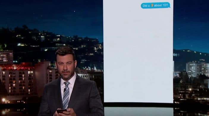 Jimmy Kimmel Texts His Niece