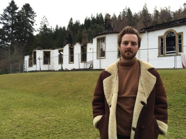Richard MacLean Smith Outside Boleskine House