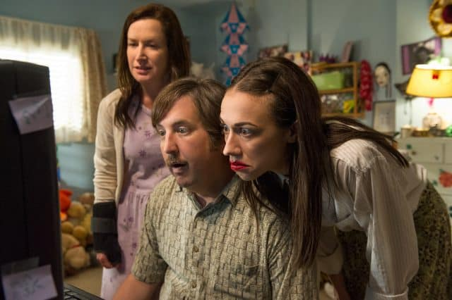 Angela Kinsey, Steve Little, and Colleen Ballinger in 'Haters Back Off'
