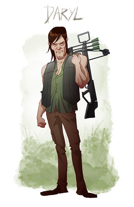 The Walking Dead Cartoon Style Fan Art That Doesn T Get Old
