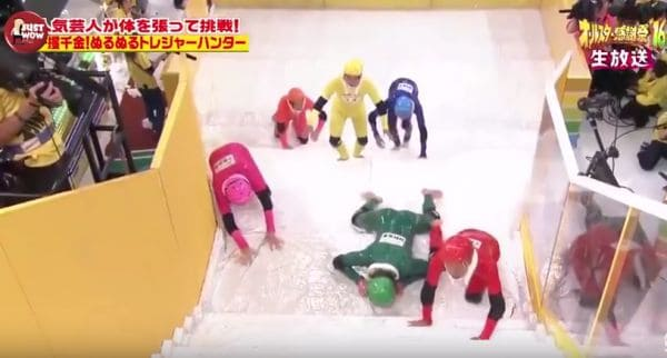 japanese game shows rule the slippery stairs game